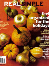 Real Simple Nov 2010 cover