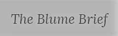 The Blume Brief logo