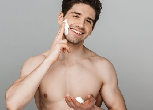 Man with great skin after men's services