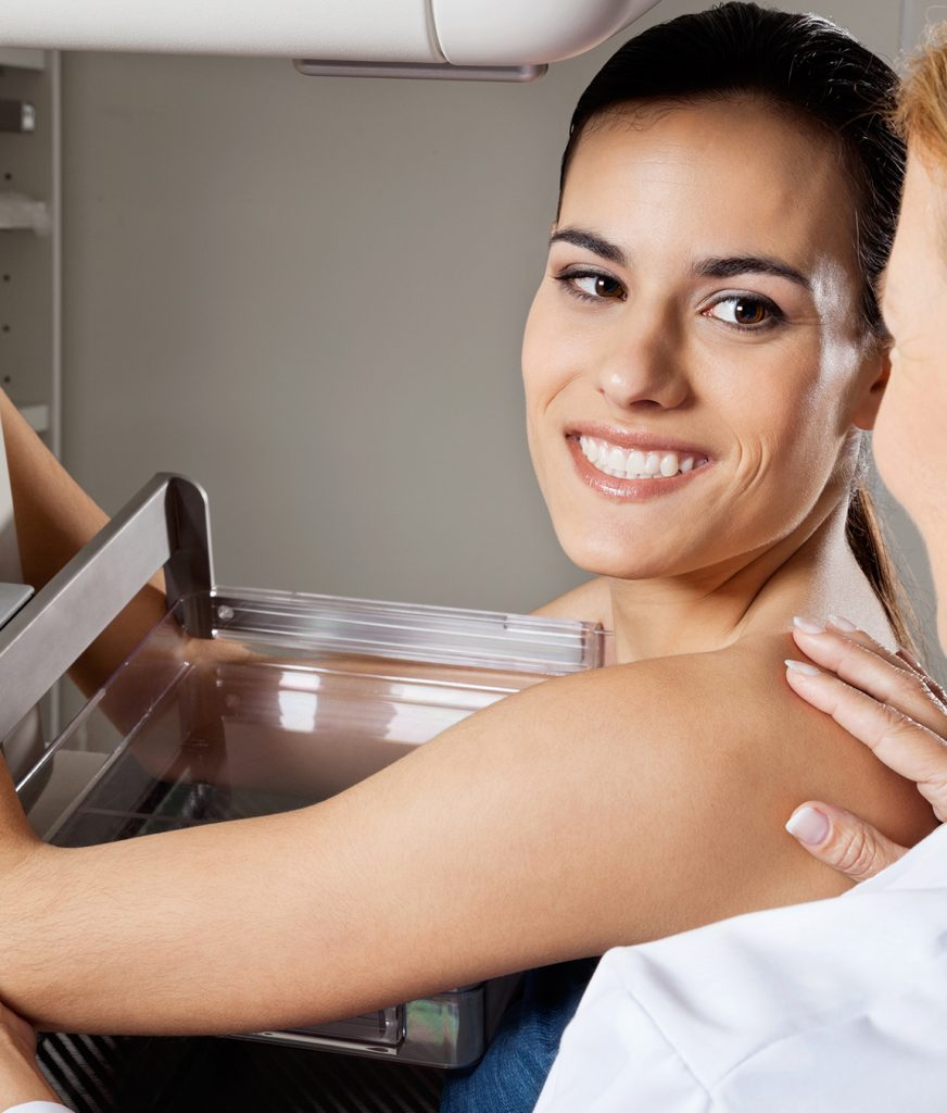 Woman receiving a skin cancer screening