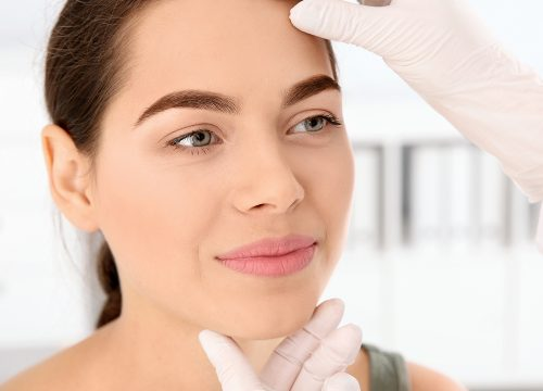 Woman before her Fraxel® Re:Store Dual treatment